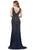 Cecilia Couture - 1410 Beaded Deep V-neck Trumpet Dress Evening Dresses