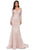 Cecilia Couture - 1411 Floral Lace Mermaid Evening Gown Evening Dresses 0 / Dusty Rose