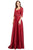 Cecilia Couture - 1845 Sweetheart Satin A-Line Gown Evening Dresses 4 / Burgundy