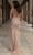 Chic and Holland - AN1401 Beaded Off Shoulder Long Dress Special Occasion Dress