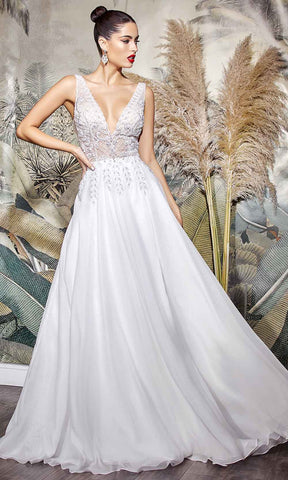 Cinderella Divine Bridals - TY12 Beaded Embroidery Ornate Bridal Gown