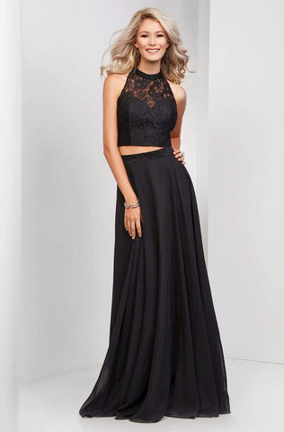 Clarisse - 3427 Two-Piece Lace Illusion A-Line Gown