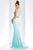 Clarisse - Two-Piece Crystal Embellished Crop Top Long Sheath Gown 3438 - 1 pc Seafoam In Size 2 Available CCSALE 2 / Seafoam