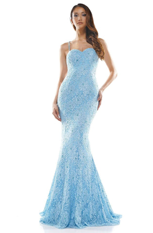 Colors Dress - 2281 Sweetheart French Embroidered Lace Trumpet Dress