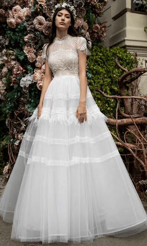 Cristallini - SKA1015 High Neck Embroidered Ballgown