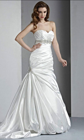 Da Vinci Bridal - 50024 Strapless Beaded Empire Trumpet Bridal Gown Wedding Dresses