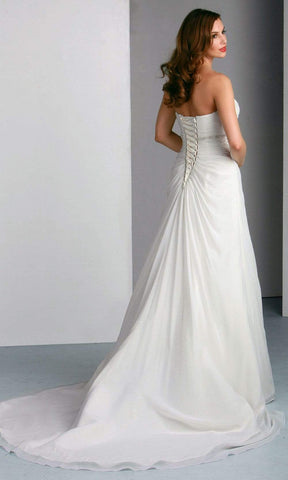 Da Vinci Bridal - 50031 Sweetheart Empire Chiffon Dress Wedding Dresses