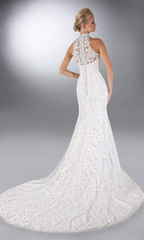 Da Vinci Bridal - 50085 High Neck Lace Embroidery Dress Wedding Dresses