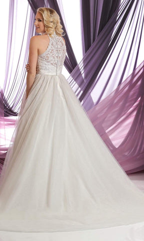 Da Vinci Bridal - 50399 High Halter Embroidered Ballgown Wedding Dresses