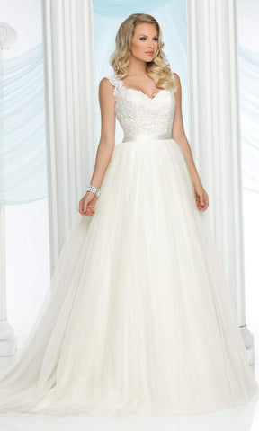 Da Vinci Bridal - 50430 Sweetheart Tulle Ballgown with Chapel Train Wedding Dresses