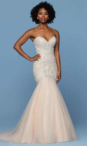Da Vinci Bridal - 50573 Strapless Sweetheart Embroidered Bridal Gown Wedding Dresses