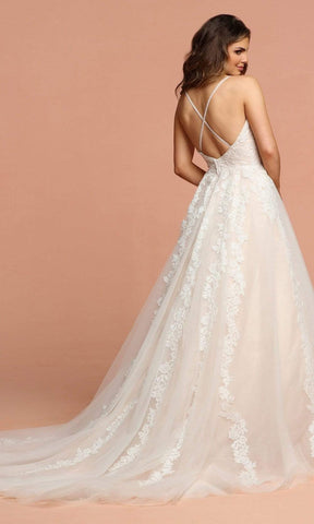 Da Vinci Bridal - 50583 Beaded Lace Sweetheart Tulle Ballgown Special Occasion Dress