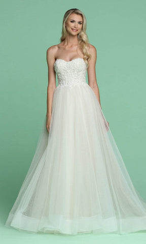 Da Vinci Bridal - 50614 Sweetheart Bodice Embroidered Bridal Gown
