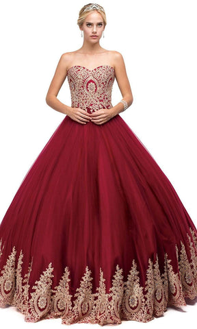 Dancing Queen - 1115 Bead Embellished Sweetheart Formal Ball Gown Sweet 16 Dresses
