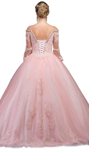 Dancing Queen - 1266 Embellished Lace Fantasy Ballgown Special Occasion Dress