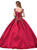 Dancing Queen - 1344 Cap Sleeve Floral Gilt-Appliqued Ballgown Special Occasion Dress
