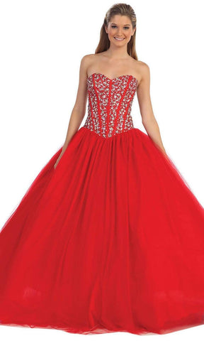 Dancing Queen - 9094 Embellished Sweetheart Evening Gown Special Occasion Dress