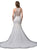 Dancing Queen Bridal - 90 Embellished Jewel Neck Trumpet Gown Special Occasion Dress