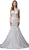 Dancing Queen Bridal - 90 Embellished Jewel Neck Trumpet Gown Special Occasion Dress XS / Off White