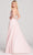 Ellie Wilde - EW22038 Plunging Sweetheart A-Line Dress with Slit Prom Dresses