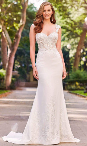 Enchanting by Mon Cheri - 120162 Beaded Lace Sweetheart Bridal Gown