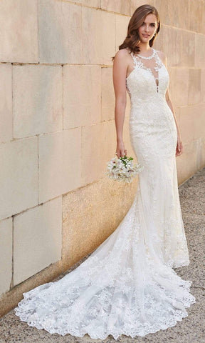 Enchanting by Mon Cheri - 120164 Lace Applique Bridal Gown Bridal Dresses 0 / Ivory/ Light Gold
