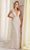 Enchanting by Mon Cheri - 217109 Floral Embellished Sexy Long Dress Bridal Dresses 0 / Ivory/Nude