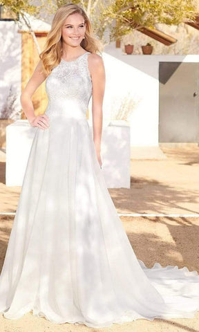Enchanting by Mon Cheri - 220102 Lace Racerback Organza Bridal Gown