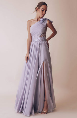 Gatti Nolli Couture - OP-4981 Embellished One Shoulder A-line Gown