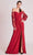 Gatti Nolli Couture - OP5707 Sheer Long Sleeve Slit Dress Evening Dresses 0 / Wine