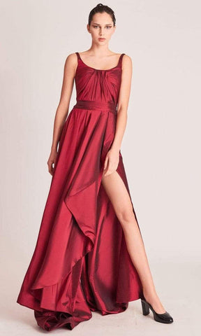 Gatti Nolli Couture - OP5740 Scoop Neck And Back A-Line Dress