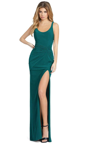 Ieena Duggal - 26434 Sleeveless Scoop Neck And Back Fitted Long Dress Special Occasion Dress 0 / Emerald Green