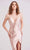 J'Adore - J15030 Plunging Neck Mid Slit Dress Evening Dresses 2 / Blush