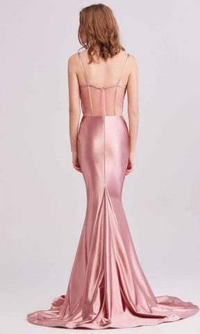 J'Adore - J15031 Cowl Sweetheart Satin Dress Evening Dresses
