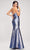 J'Adore - J17037 Metallic Glitter High Slit Mermaid Gown Special Occasion Dress