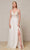 J'Adore - J18008 Lace Tulle V Neck A-line Gown Special Occasion Dress 2 / Ivory