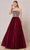 J'Adore - J18029 Strapless Jeweled Bodice A-Line Gown Special Occasion Dress 2 / Berry