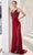 J'Adore - JM113 Metallic Embroidery Sheer Side Mermaid Gown Special Occasion Dress