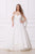 Jadore - J12036 Off Shoulder Sweetheart Neckline A-Line Tulle Gown Special Occasion Dress 2 / Ivory
