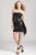 Janique - KY7007 Beaded Swathe Sash Dress Special Occasion Dress 0 / Black