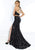 Jasz Couture - 6488 Two Piece Sequined Halter Trumpet Dress Evening Dresses