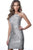 Jovani - JVN1112 Sequined Halter Neck Fitted Dress Special Occasion Dress 00 / Silver