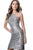 Jovani - JVN1112 Sequined Halter Neck Fitted Dress Special Occasion Dress