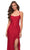 La Femme - 29650 Crisscross Strapped Open Back Ruffle Slit Lace Gown Special Occasion Dress