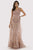Lara Dresses - 29789 Lace Applique Bateau Sheath Dress Pageant Dresses 4 / Mauve