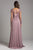 Lara Dresses - 29921 Illusion Long Sleeve Jeweled Chiffon Dress Special Occasion Dress