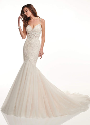 Lo'Adoro by Rachel Allan - M730 Sweetheart Mermaid Bridal Dress Special Occasion Dress 0 / White