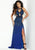 Lush By Jasz Couture - 1568 Beaded Halter Neck Dress With Cutouts Prom Dresses 00 / Navy
