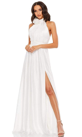 Mac Duggal - 49333 High Halter A-Line Gown Special Occasion Dress 0 / White