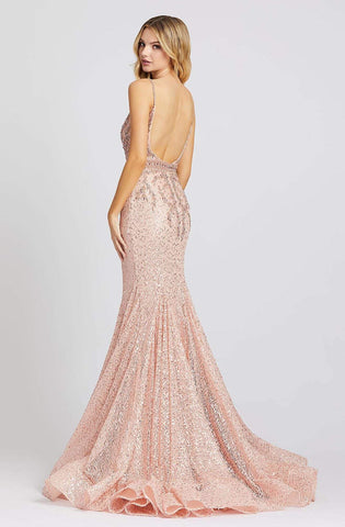 Mac Duggal Evening - 79241D Jeweled Fitted Long Trumpet Dress Pageant Dresses 0 / Blush